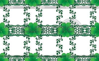 Seamless clovers | Stock Vector Graphics |ID 3016178