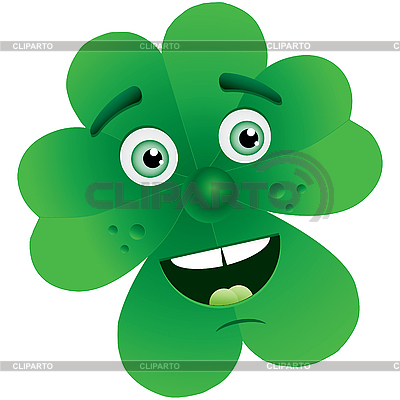 Clover with face | Stock Vector Graphics |ID 3016180