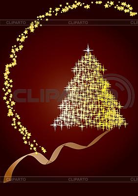 크리스마스 트리 카드   벡터 클립 아트  ID 3016196