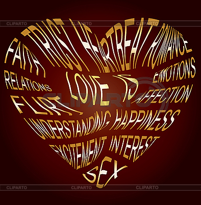 Gold text about what love is | Stock Vector Graphics |ID 3016212