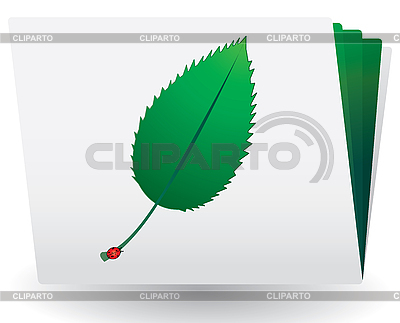 Catalog with green leaf and ladybird on top   Stock Vector Graphics  ID 3016216