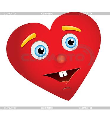 Сердце с лицом | Векторный клипарт |ID 3016229