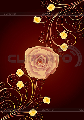 Background with rose | Stock Vector Graphics |ID 3016359