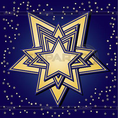 Gwiazdki na niebieskim tle | Klipart wektorowy |ID 3016419