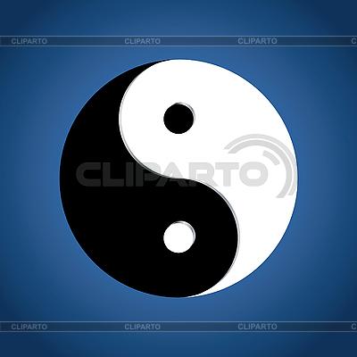 Yin Yang znak | Klipart wektorowy |ID 3016455