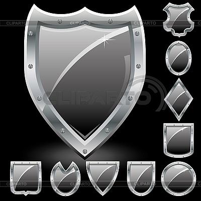 セキュリティシールドのセット | ベクターイラスト |ID 3025761