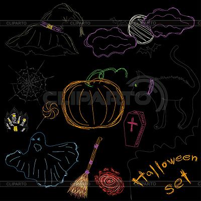Halloween set | Klipart wektorowy |ID 3053104