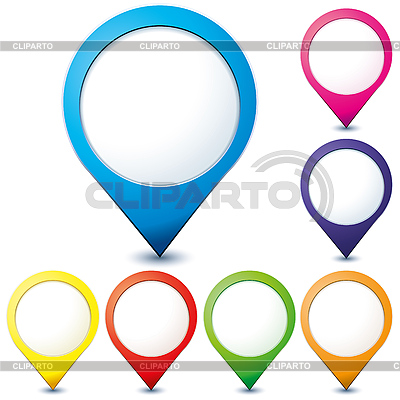 Map pointers | Stock Vector Graphics |ID 3053106