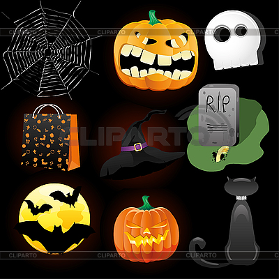 Halloween set | Stock Vector Graphics |ID 3063244