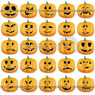 Тыквы на Хэллоуин | Векторный клипарт |ID 3063246