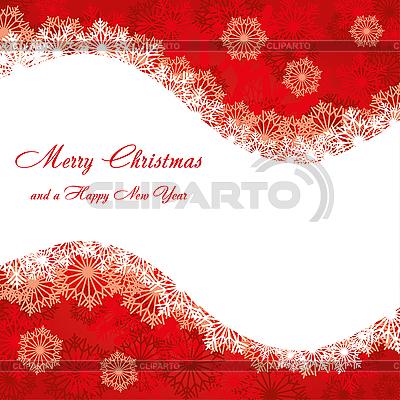 레드 크리스마스 카드   벡터 클립 아트  ID 3110765