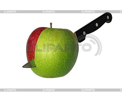 Cut apple izolowane | Foto stockowe wysokiej rozdzielczości |ID 3014032