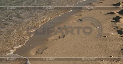 모래에 발자국   높은 해상도 사진  ID 3014044