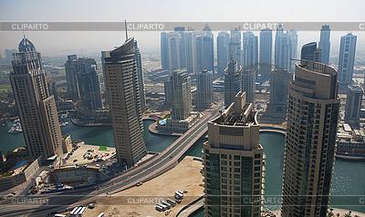 Town scape at summer. Dubai Marina. | High resolution stock photo |ID 3015807