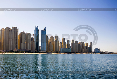 Dubai-Skyline. Panorama-Blick. | Foto mit hoher Auflösung |ID 3015861