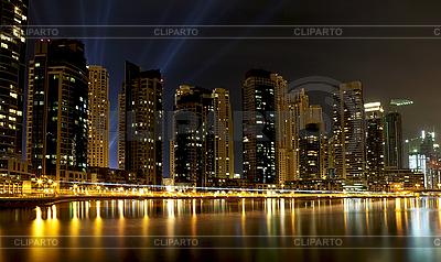 Miasto scape w czasie nocy. Panoramiczny scena | Foto stockowe wysokiej rozdzielczości |ID 3016318
