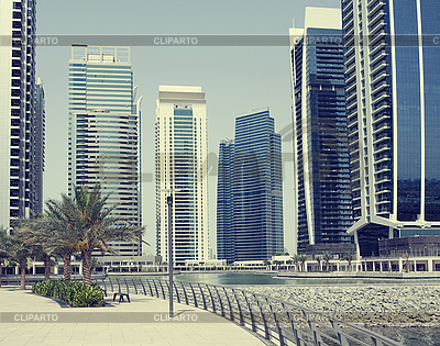 Town scape at summer. Panoramic scene in Dubai | High resolution stock photo |ID 3016514
