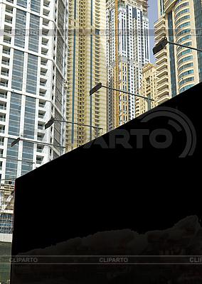 Blank black billboard on the city street | High resolution stock photo |ID 3016539