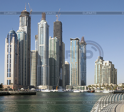 Town scape at summer. Panoramic scene, Dubai. | High resolution stock photo |ID 3016724