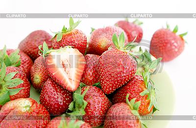 Pile of fresh strawberries   High resolution stock photo  ID 3018175