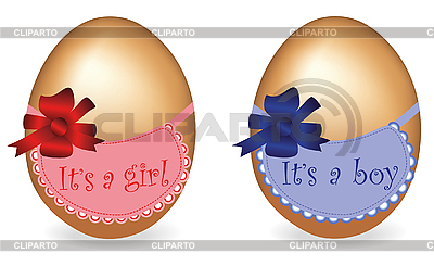 Gift eggs - boy and girl | High resolution stock illustration |ID 3018631