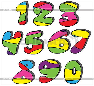 Colorful cartoon numbers set  | High resolution stock illustration |ID 3018666