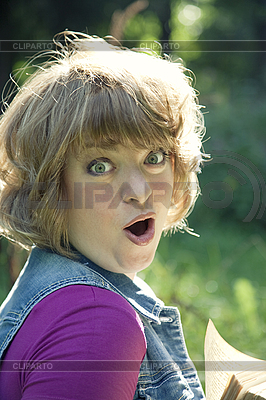 Portrait of young amazed woman | High resolution stock photo |ID 3036779