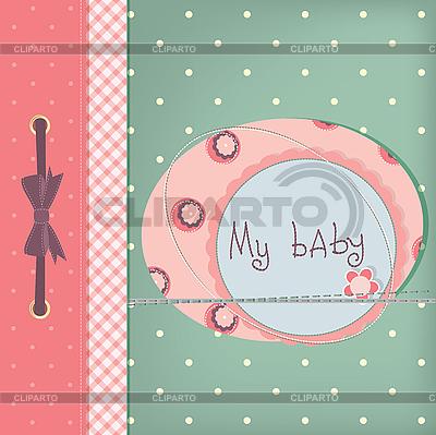 Dziewczyna karty Baby pozdrowienia | Stockowa ilustracja wysokiej rozdzielczości |ID 3110601