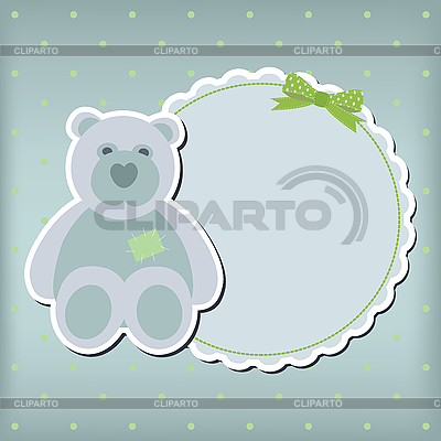 Baby boy arrival announcement card | High resolution stock illustration |ID 3110602