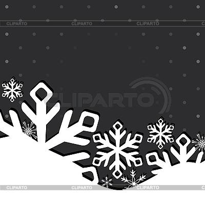 Новогодняя поздравительная открытка со снежинками | Иллюстрация большого размера |ID 3110612