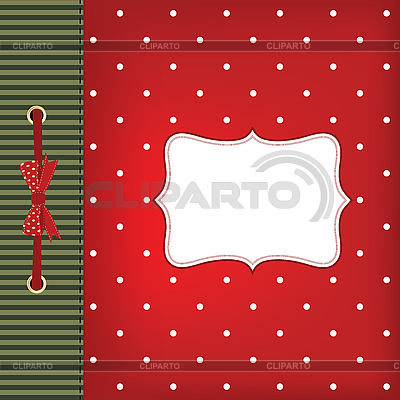Greeting card with bow | High resolution stock illustration |ID 3110619