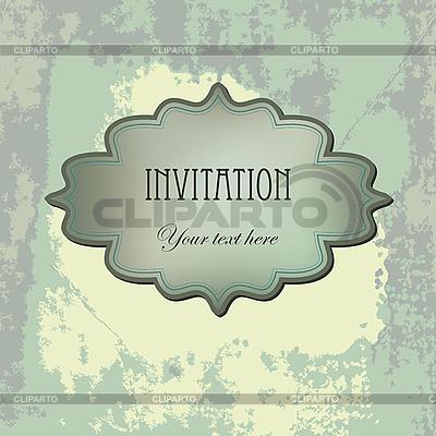 Vintage-Einladung | Illustration mit hoher Auflösung |ID 3110651
