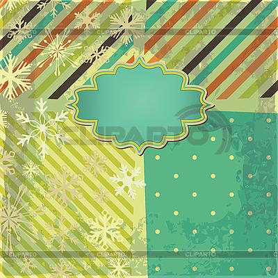 Retro-Hintergrund mit Streifen und Schneeflocken | Illustration mit hoher Auflösung |ID 3110655