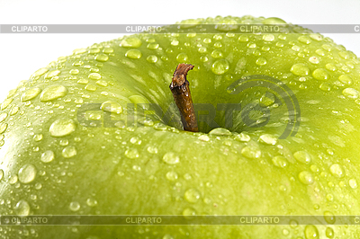 Green apple with water drops | High resolution stock photo |ID 3111741