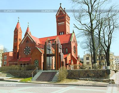 Catholic church of St Simon and Helena in Minsk | Foto stockowe wysokiej rozdzielczości |ID 3313319