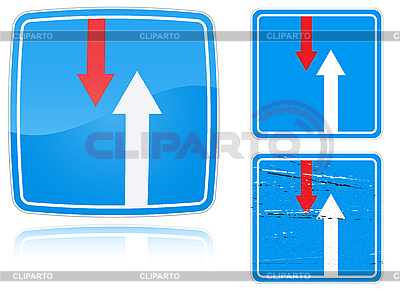 Variants advantage over oncoming traffic road sign | High resolution stock illustration |ID 3012751