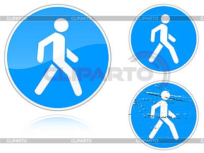 Zestaw Chodnik warianty - znak drogowy | Klipart wektorowy |ID 3012827