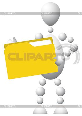 Man with yellow folder | Stock Vector Graphics |ID 3012909