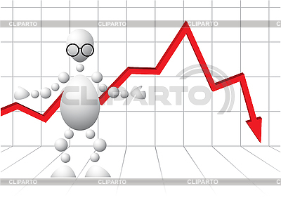 Man in glasses as loser-analyst | Stock Vector Graphics |ID 3012951