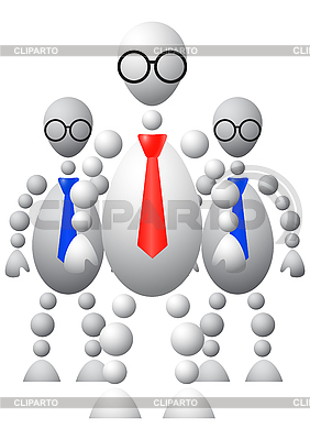 Group of three mans in ties and round glasses | Stock Vector Graphics |ID 3012953