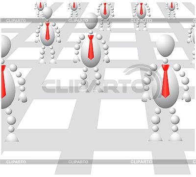 Grupa Mężczyźni w czerwonych opasek na abstrakcyjne sieci | Klipart wektorowy |ID 3013007