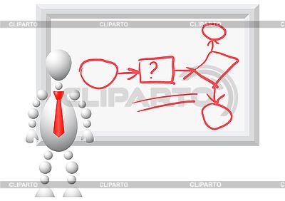 Man demonstrates the algorithm   Stock Vector Graphics  ID 3013013