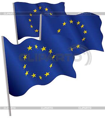 Eurounion 3d flag. | Stock Vector Graphics |ID 3013051
