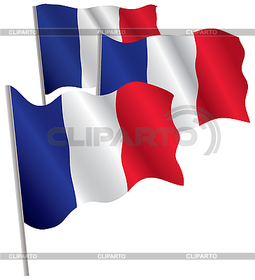 Francja 3d flag | Klipart wektorowy |ID 3013057