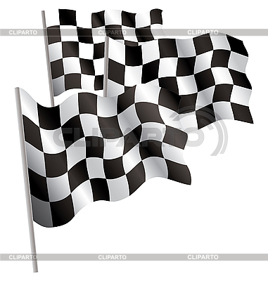 Racing-sport finish 3d flag | Stock Vector Graphics |ID 3013079