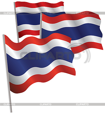 Thailand 3d flag. | Stock Vector Graphics |ID 3013081