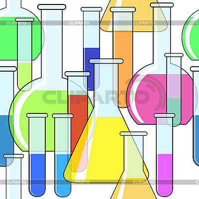 Background with motley chemical glassware   Stock Vector Graphics  ID 3013101