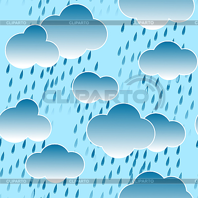 Background with clouds and rain drops | Stock Vector Graphics |ID 3013153