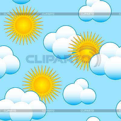 Sky background with clouds and sun | Stock Vector Graphics |ID 3013161