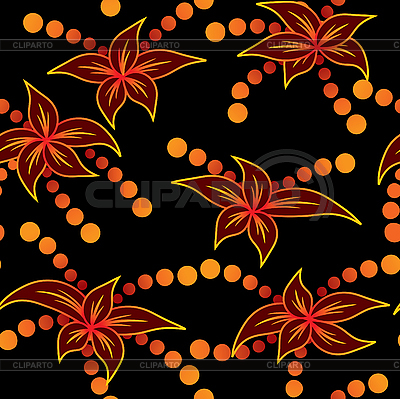 Flame-flowers background | Stock Vector Graphics |ID 3013346